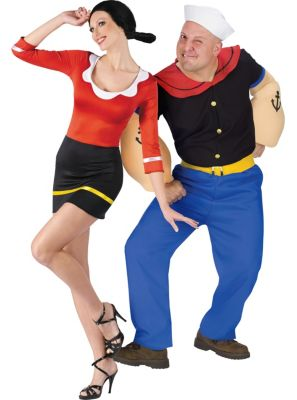 sc 1 st  Party City & Sexy Olive Oyl u0026 Popeye Couples Costumes | Party City