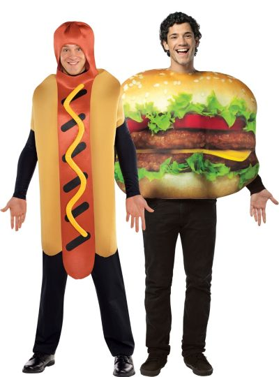 cheeseburger hot dog couples costumes party city