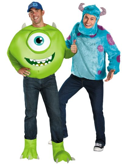 Deluxe Mike and Sulley Monsters University Couples Costumes