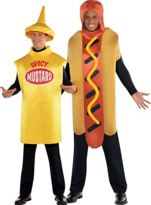 Adult Spicy Mustard & Hot Diggity Hot Dog Couples Costumes