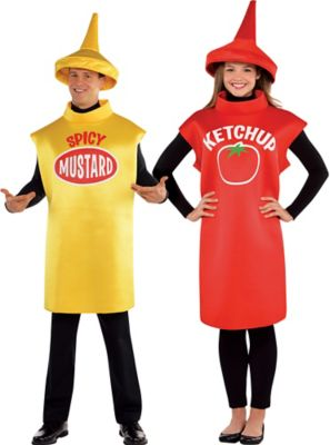 sc 1 st  Party City & Adult Spicy Mustard u0026 Classic Ketchup Couples Costumes | Party City