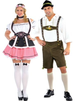 Plus Size Bavarian Couples Costumes