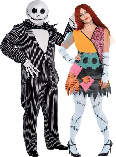 Plus Size Nightmare Before Christmas Couples Costumes