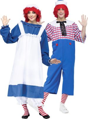 Adult Raggedy Ann & Andy Couples Costumes