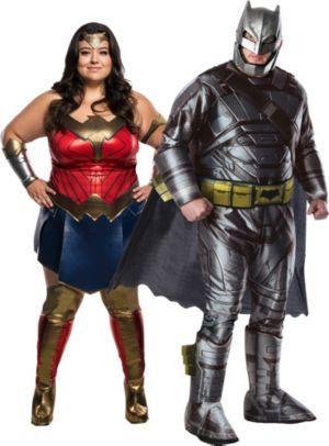 Adult Wonder Woman & Batman Couples Costumes Plus Size - Batman v Superman: Dawn of Justice