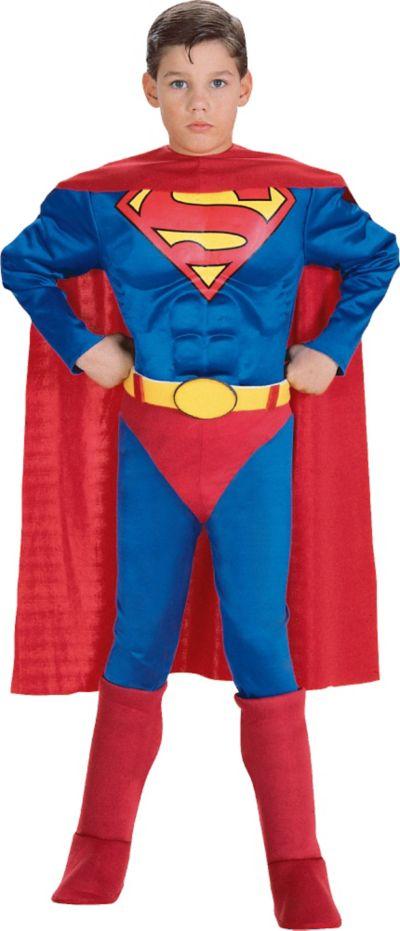 Boys Superman Muscle Costume