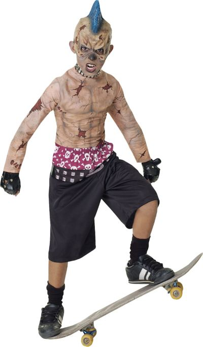 Boys Zombie Skate Punk Costume