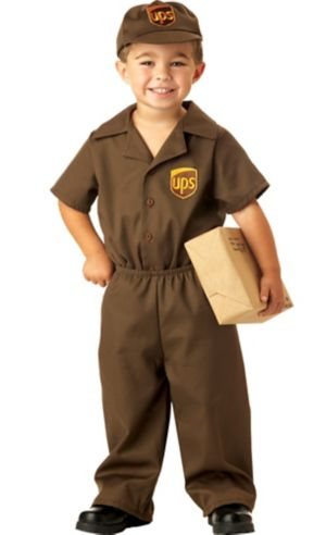 Toddler Boys UPS Driver Costume
