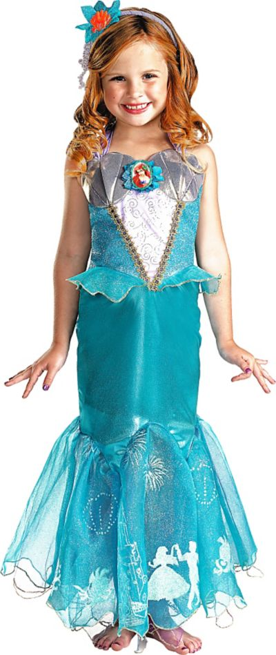 Girls Ariel Costume Prestige - The Little Mermaid