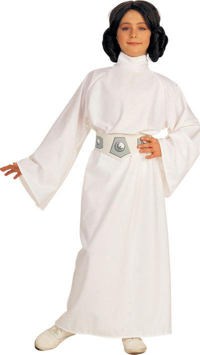 Girls Princess Leia Costume Deluxe - Star Wars