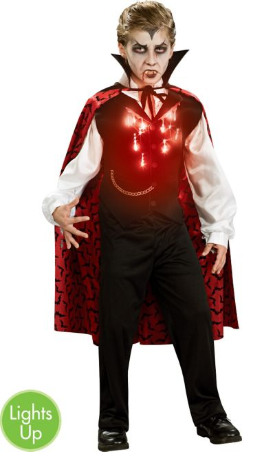 Boys Light-Up Vampire Costume