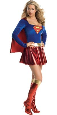 sc 1 st  Party City & Classic Supergirl Costume Adult | Party City