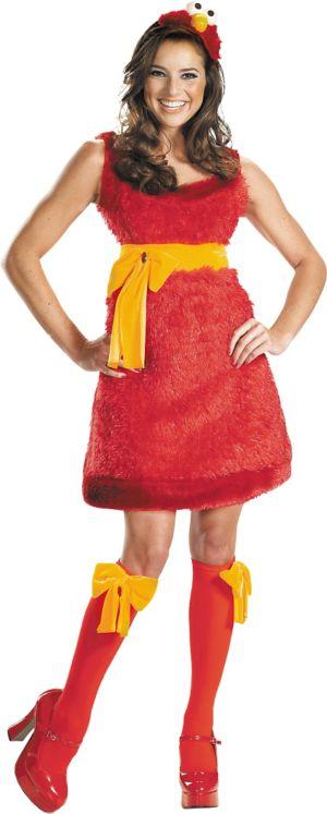 Adult Sassy Elmo Costume - Sesame Street