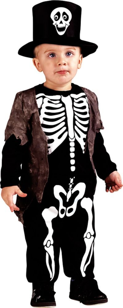 toddler boys happy skeleton costume party city