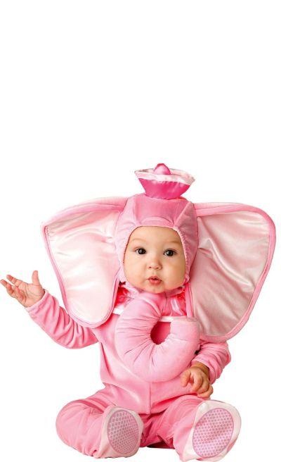 Baby Pink Elephant Costume Deluxe
