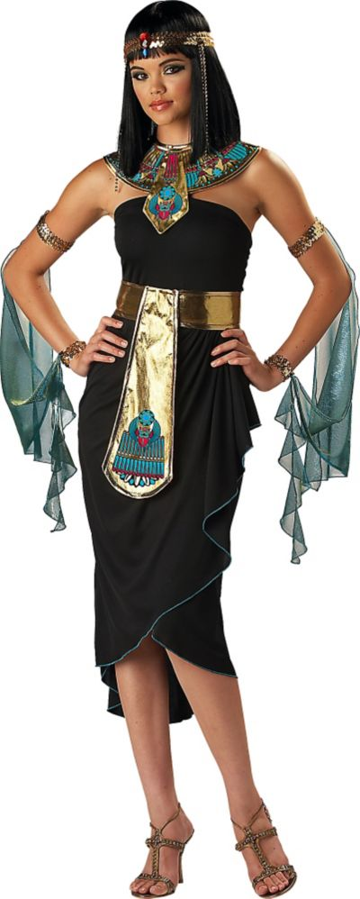 Egyptian roman greek costume accessories party city adult cleopatra black costume solutioingenieria Image collections