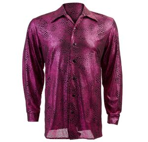 Liquid Fuchsia and Black Disco Shirt