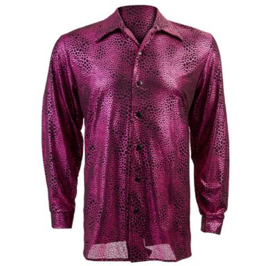 Liquid Fuchsia and Black Disco Shirt