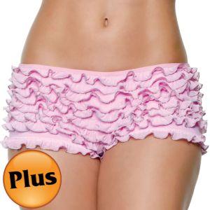 Adult Pink Ruffled Boyshorts Plus Size