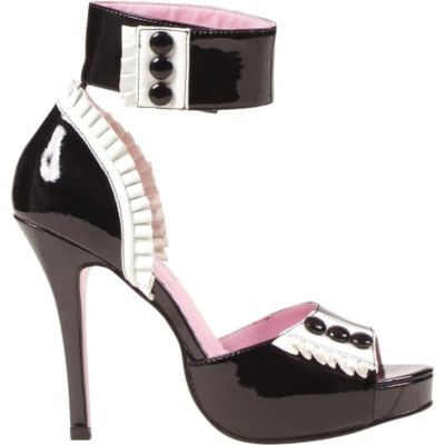 Black and White French Sandals