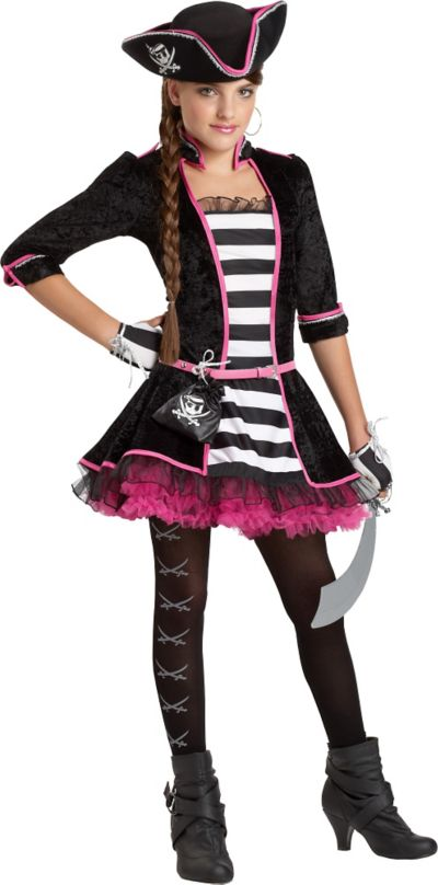 Girls High Seas Pirate Costume