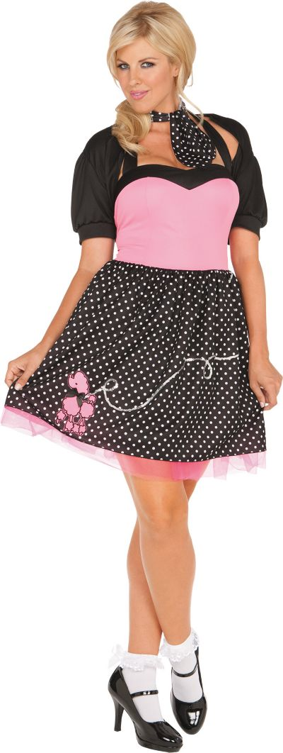 Adult Sock Hop Cutie 50's Costume Plus Size