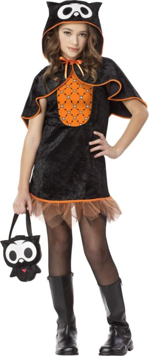 Girls Oliver the Owl Costume - Skelanimals