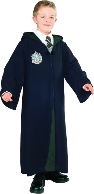 Boys Deluxe Slytherin Robe - Harry Potter
