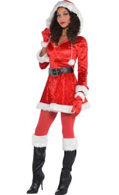 sc 1 st  Party City & Womenu0027s Sexy Santa Costume | Party City