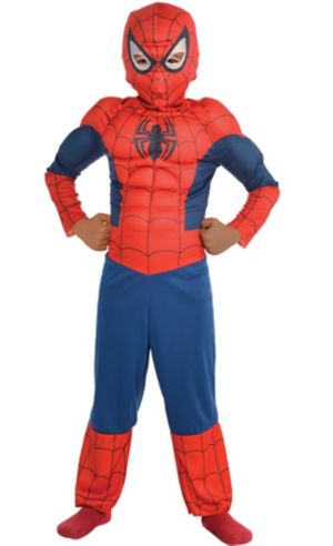 Little Boys Classic Spider-Man Muscle Costume