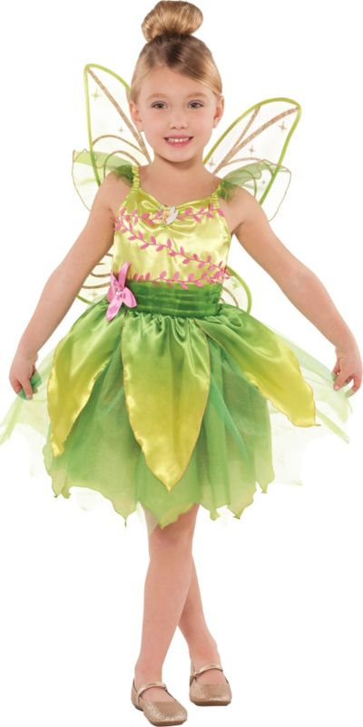 Toddler Girls Classic Tinkerbell Costume | Party City