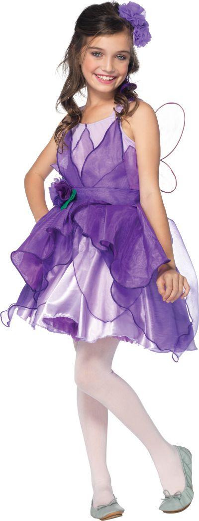 Girls Purple Fairy Costume