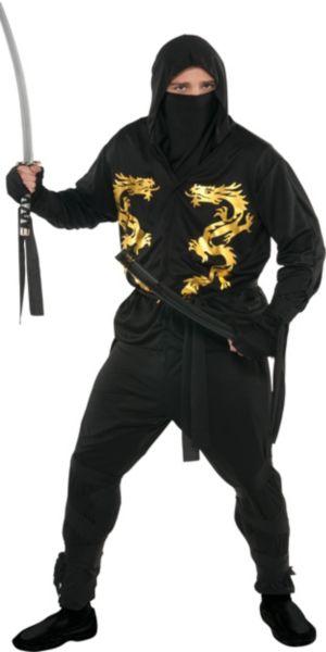 Plus Size Black Dragon Ninja Costume Party City