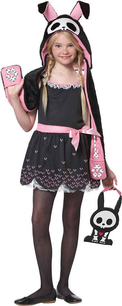 Girls Jack the Rabbit Costume - Skelanimals