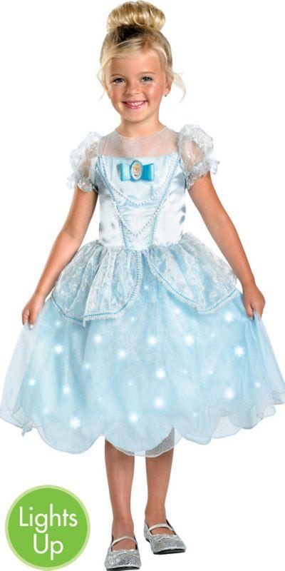 Girls Light-Up Cinderella Costume Deluxe