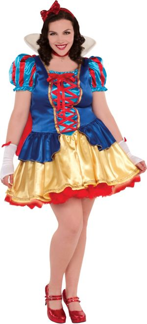 Adult Princess Snow White Costume Plus Size