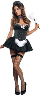 sc 1 st  Party City & Sexy Seductive French Maid Costume for Adults | Party City