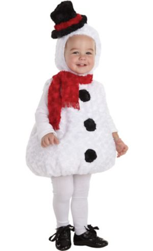 Baby Plush Snowman Costume