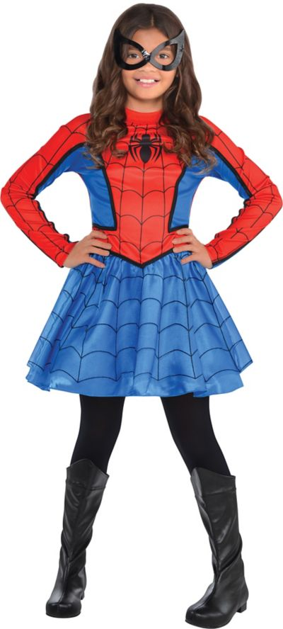 619979199689 Girls Red Spider-Girl Costume   Party City