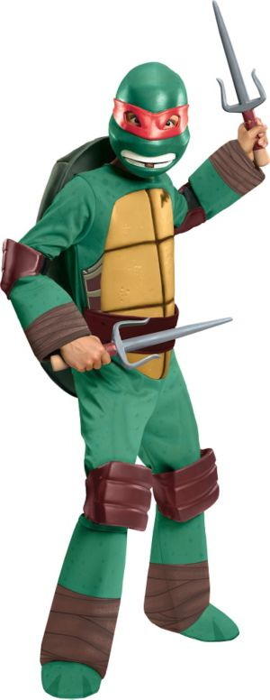 Boys Raphael Costume Deluxe - Teenage Mutant Ninja Turtles
