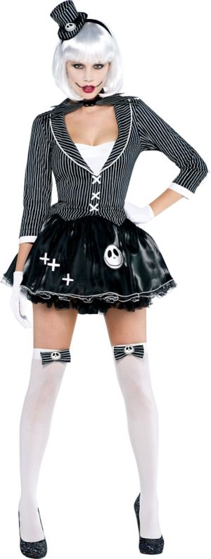 Adult Lady Jack Skellington Costume - Nightmare Before Christmas