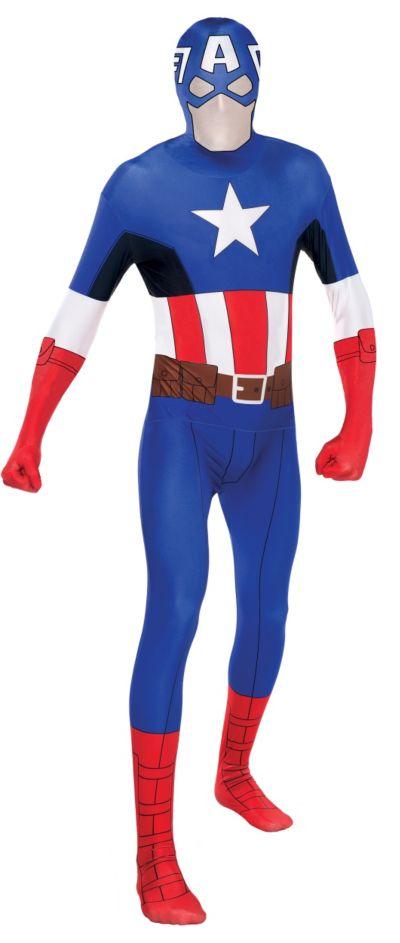 Adult Captain America Partysuit