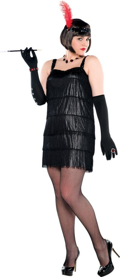 Adult Flashy Flapper Costume Plus Size Party City