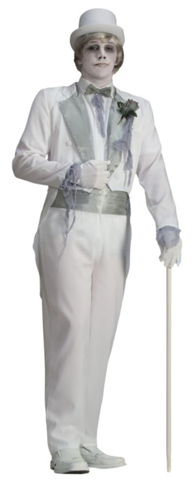 Adult Victorian Ghost Groom Costume