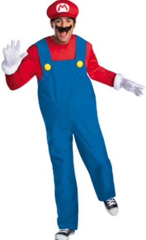 Adult Mario Costume Plus Size Premium - Super Mario Brothers