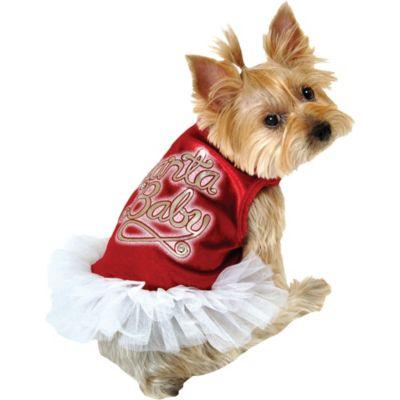 Santa Baby Dog Tutu Dress