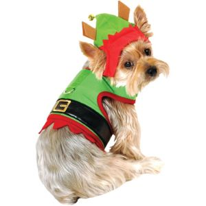Santa's Elf Dog Costume