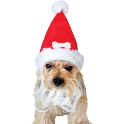 Bearded Dog Santa Hat