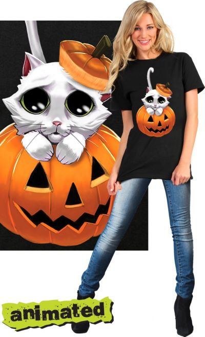 Adorable Kitty Animated T-Shirt - Cat
