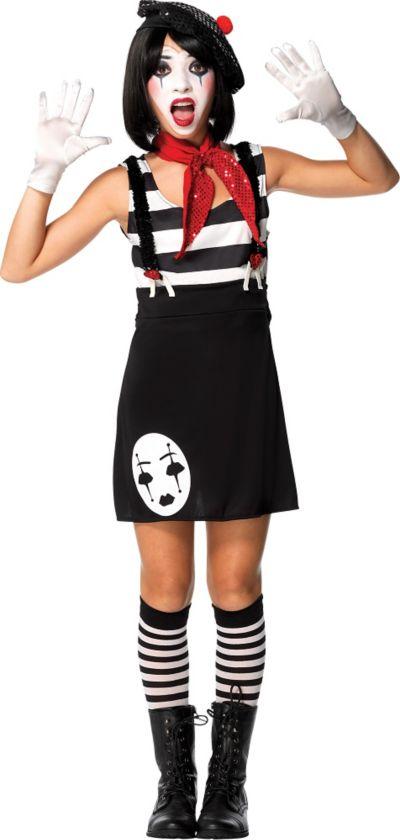 Teen Girls Mesmerizing Mime Costume